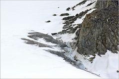 Der Rand des Gletschers...