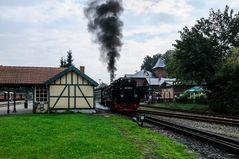 Der Rasende Roland beim Start in Putbus