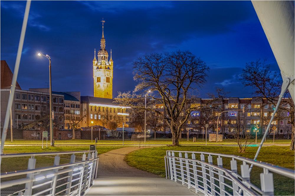 Der Rathausturm in Dessau