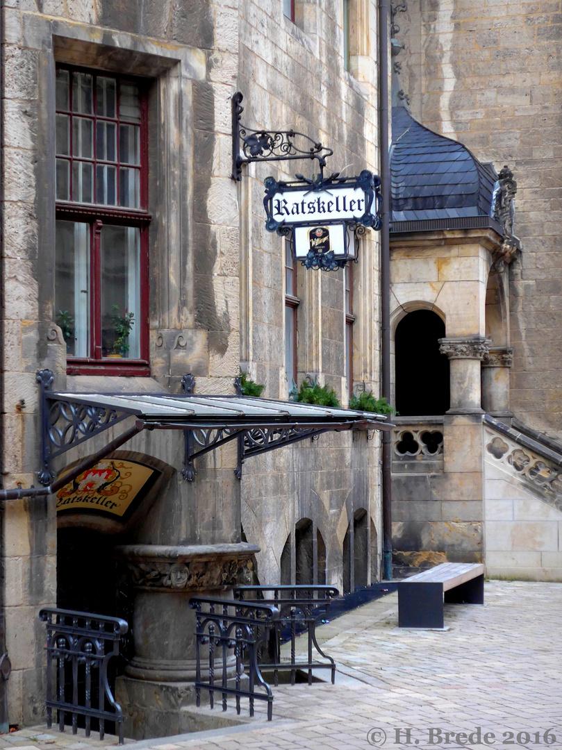 Der Ratskeller in Quedlinburg...