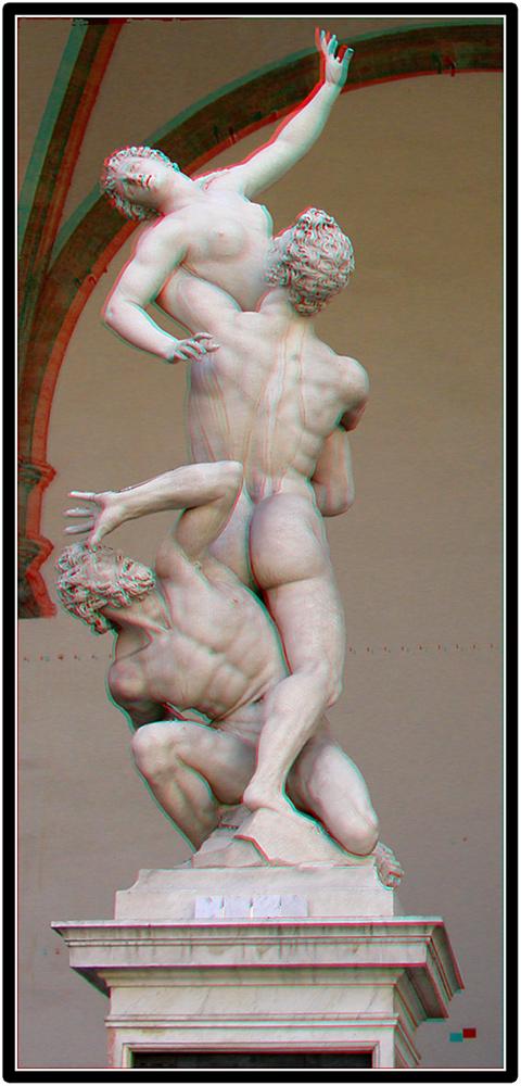 Der Raub einer Sabinerin - Farbanaglyphe