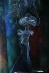Der Rauch aus der Schale