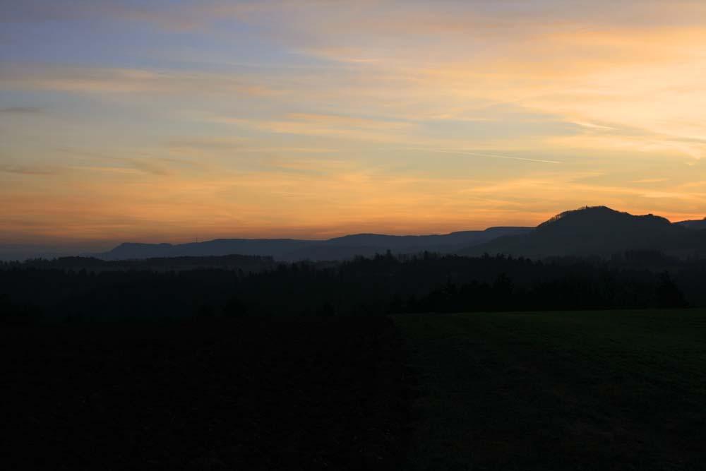 Der Rechberg im Sonnenaufgang