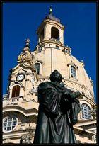 Der Reformator vor der Frauenkirche