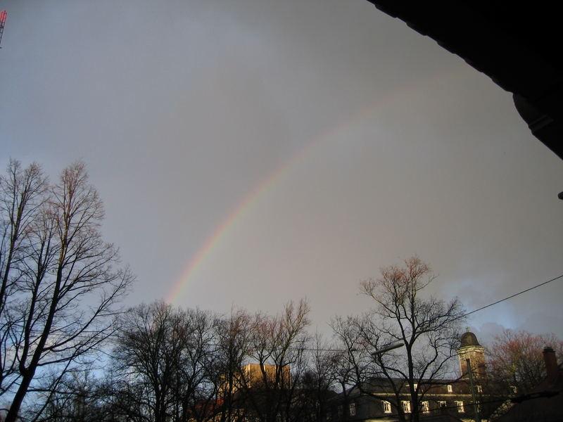 der Regenbogen vor meinem Fenster