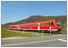 Der Regionalexpress aus der Oberpfalz in Richtung Nürnberg