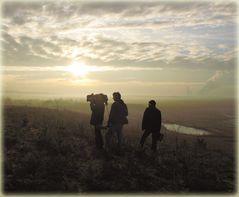 Der Reiz einer einsamen November Landschaft