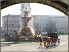 Der Residenzbrunnen.