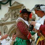 """""""Der Retter"""" Historisches Spektakel in Pirna, mit ernstem Hintergrund, jährlich zum Stadtfest."""