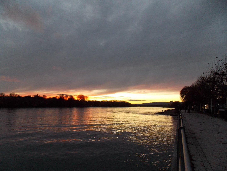 Der Rhein am Abend