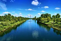 Der Rhein-Herne-Kanal in Gelsenkirchen