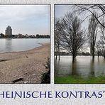 Der Rhein mal brav im Bett ...