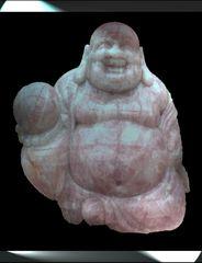 Der Rosenquarz Buddha