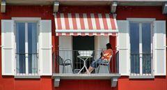 Der rote Balkon