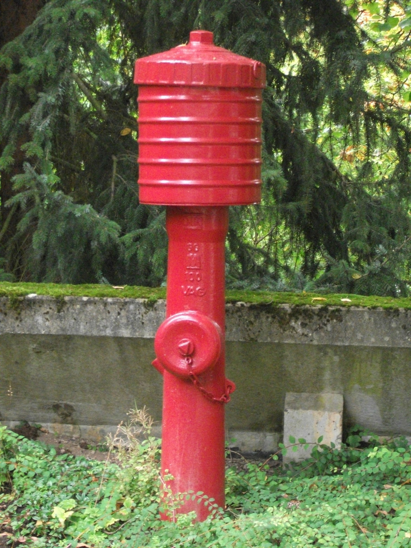Der rote Hydrant