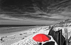 ... der rote Schirm ...