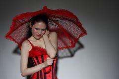 Der rote Sonnenschirm