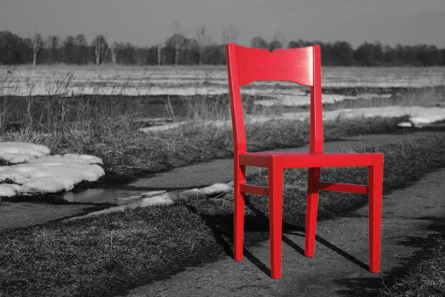 Der rote Stuhl ......