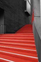 """Der """"rote"""" Teppich auf der Treppe"""