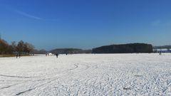 Der Rothsee als Eislaufbahn