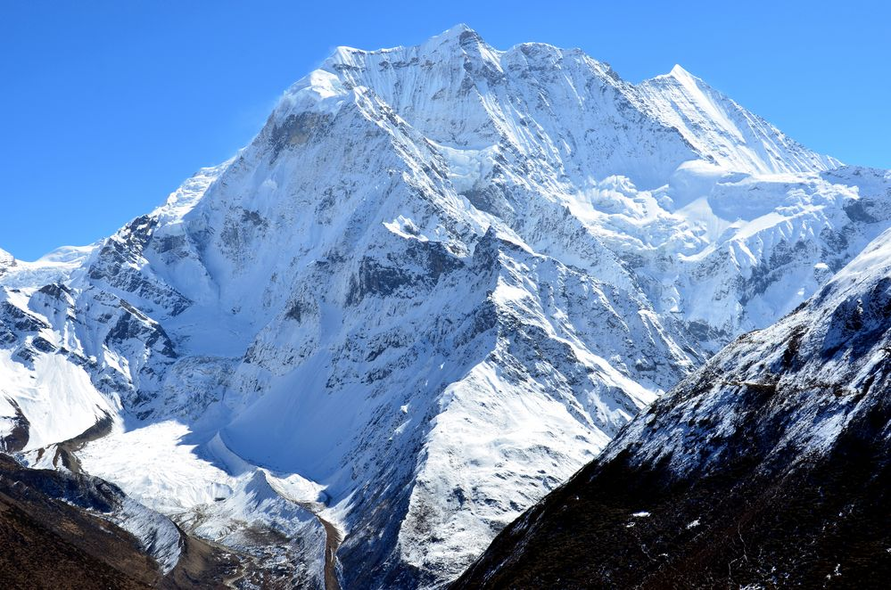 Der Samdo Ri (6335 m) zwischen Samdo und Dharamsala