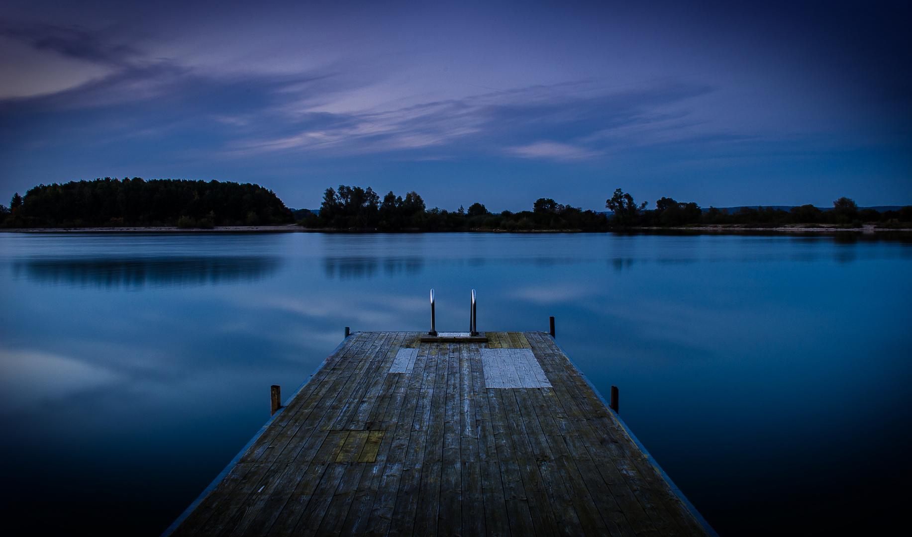 Der Schabriner See zur kalten Jahreszeit