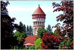 Der schmucke Wasserturm von Bad Muskau  ..