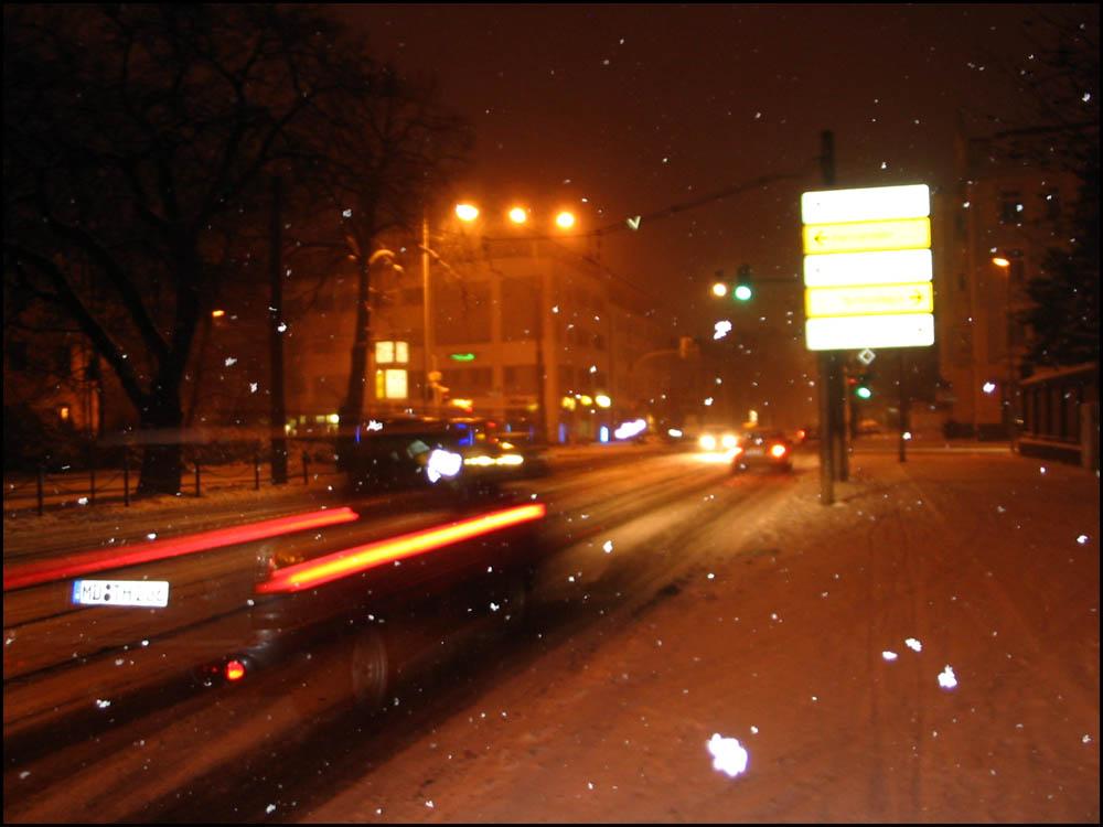 der schnee bringt alles durcheinander ;)