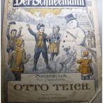 Der Schneemann - Altes Notenblatt