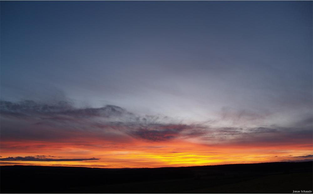 Der schöne Himmel am Abend...