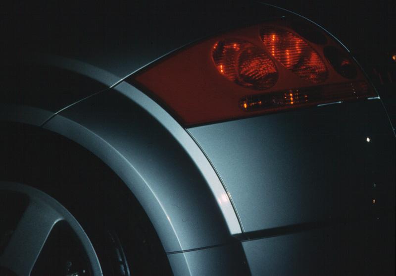 Der schöne Hinterteil eines Audi TT