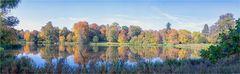 Der Schwanensee im Schloßpark von Putbus