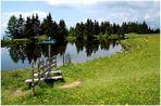 der Schwarzsee in den Kärntner Nockbergen ....