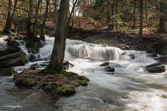 Der Selkewasserfall im Harz.