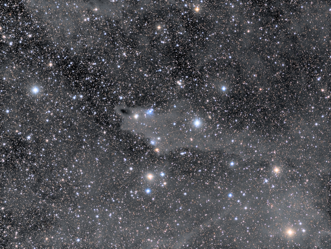 Der Shark Nebel LDN 1235 im Sternbild Cepheus
