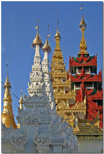 Der Shwedagon Tempel...