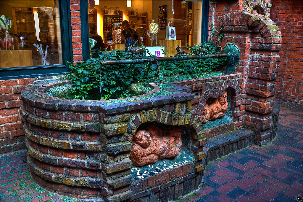Der Sieben-Faulen-Brunnen in Bremen
