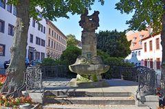 Der Skatbrunnen auf dem Brühl in Altenburg