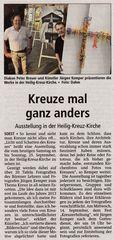 "Der ""Soester Anzeiger"" berichtet am 27.8.2016 ""Kreuze mal anders"""