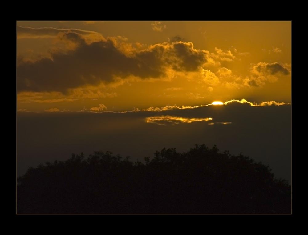 ...der Sonne beim Schlafengehen zuzuschauen...