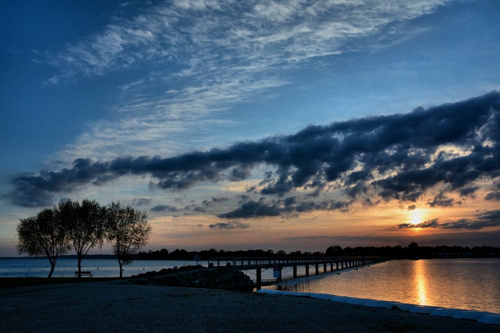 der Sonnenaufgang..