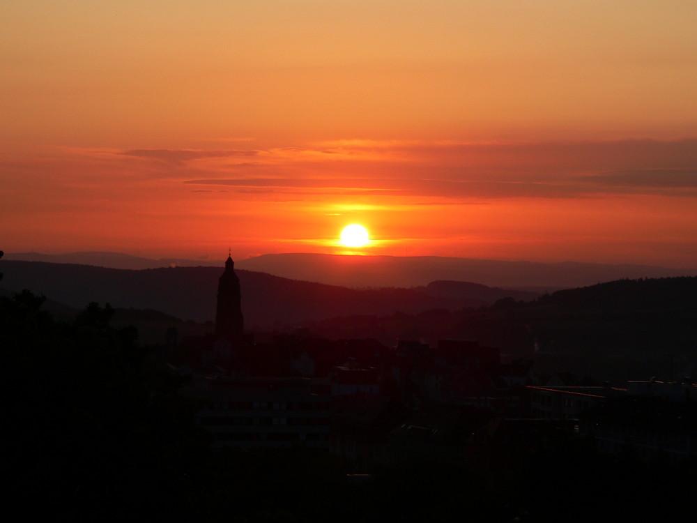 Der Sonnenaufgang in Bad Wildungen