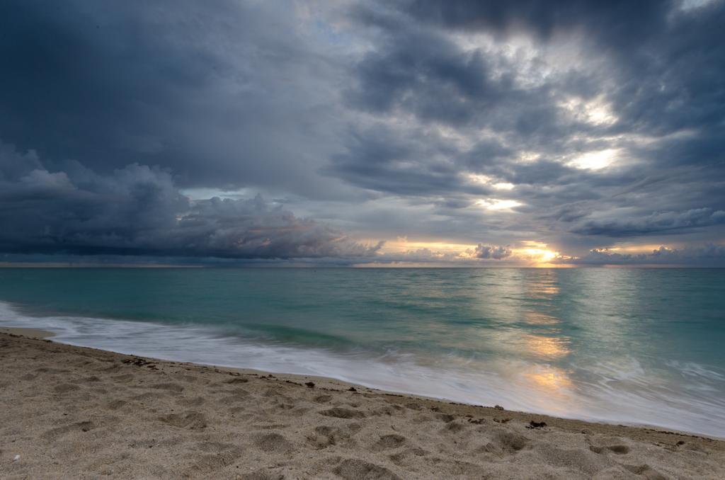 Der Sonnenaufgang in Miami Beach