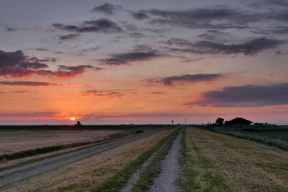 der Sonnenaufgang über der Ostsee