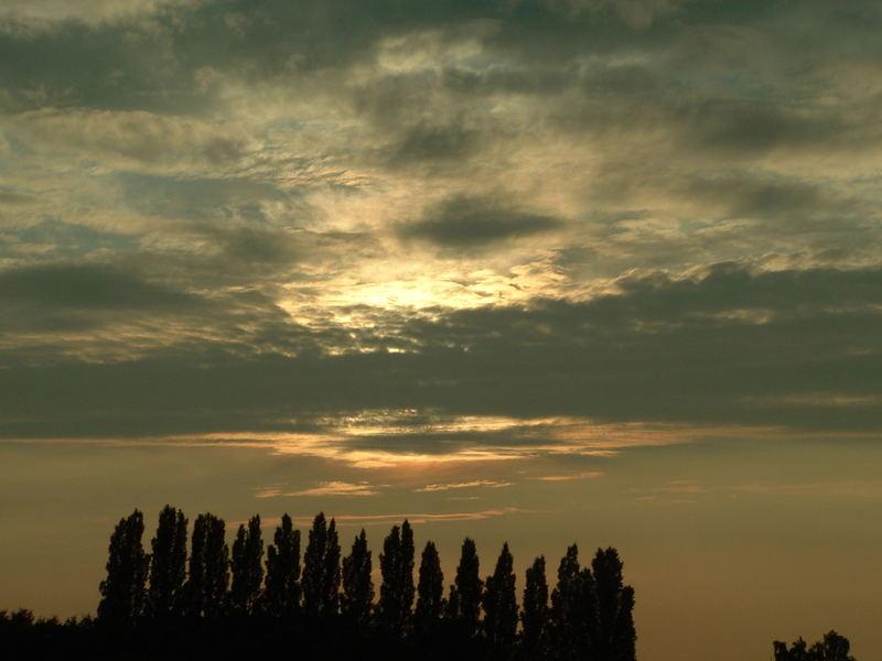 der Sonnenuntergang in Frankreich