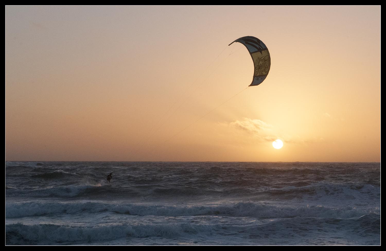 Der Sonnenuntergangs-Kiter ...