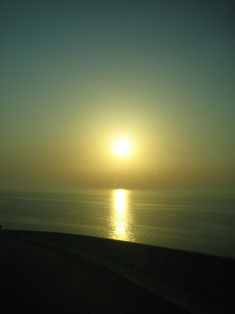 Der Sonnenweg / Sonnenuntergang Sultanat Oman
