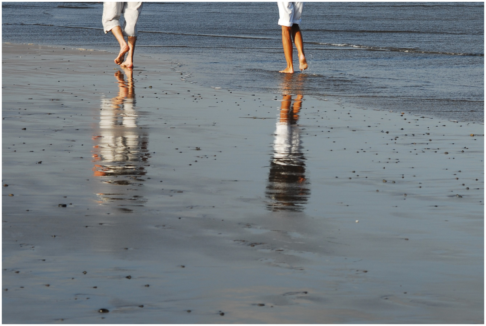 der Spaziergang am Strand........