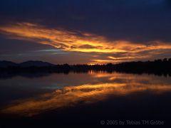 Der Staffelsee im Feuer der untergehenden Sonne