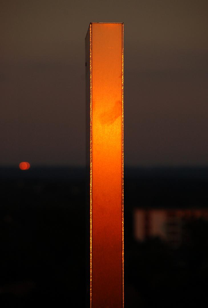 der Stahl glüht
